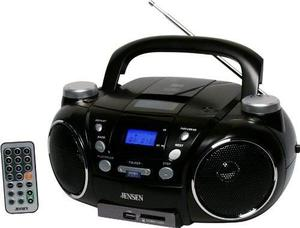 Radio Jensen Cd750 Portátil Am/fm Cd Con Mp3 Color Negro