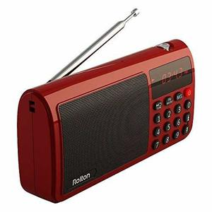 Radio Rolton W405 Mini Portátil Usb Para Pc Ipod Color Rojo