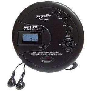 Reproducor Supersonic Sc253fm Mp3/cd Con Radio Fm