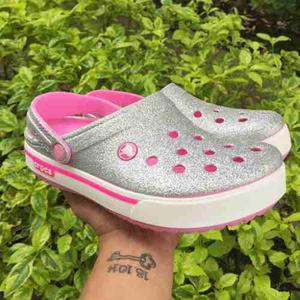 Crocs Band 2.5 Escarchada Plateada Mujer Envio Gratis