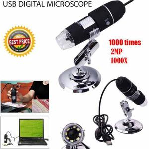 X 8 Zoom De Microscopio Digital Led Usb 2mp Endoscopio