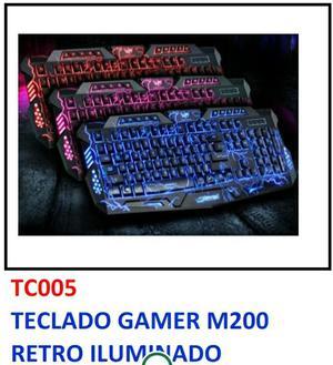 se vende teclado gamer m200 retro iluminado
