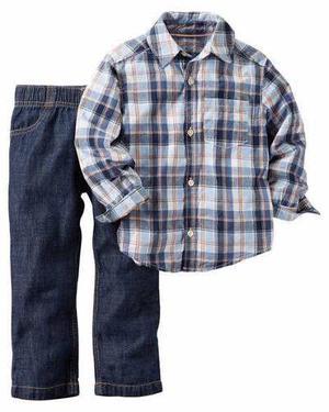 Camisa Pantalón Carter's 6 M Set 2 Pzas Importado Niño