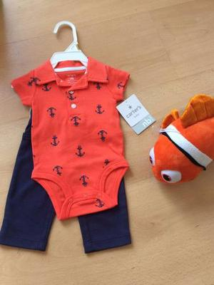 Conjuntos Carters Anclas Para Bebe Talla Recien Nacido