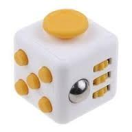 3 Fidget Cube De 2,5cm Blanco/amarillo