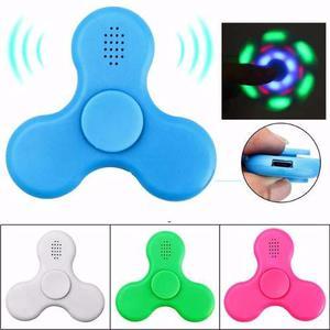 Fidget Spinner Parlante Bluetooth Música Luz Led Original