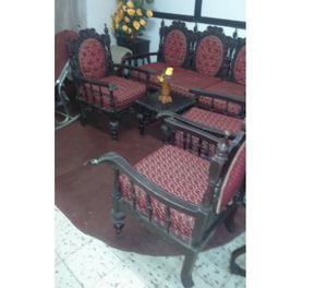 Muebles de sala madera fina tipo antiguo en remate