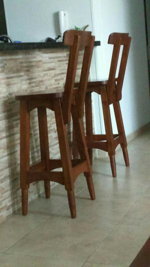 Bonito sillas altas para mesa de la cocina elaboraci n for Sillas tipo bar en madera