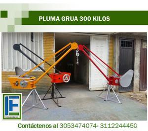 Pluma grúa capacidad 300 kilos