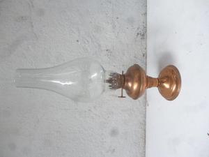 antigua lampara, base en bronce, decorativa