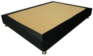 Base Cama 140 X 190 En Microfibra - Cama Doble - Entera