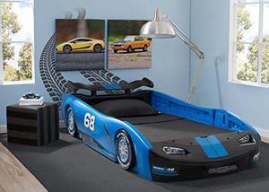 Cama Para Niños Delta Children Turbo Race Car, Azul