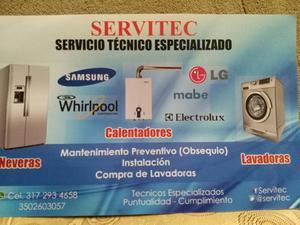 Servicio Técnico en Lavadoras Y Neveras