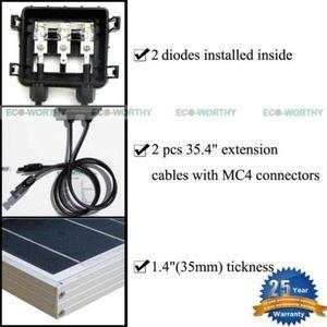 100w De Red Kit De Panel Solar Con Regulador De Temperatura