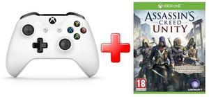 Control Xbox One S Blanco Con Juego Assassin ! Promo!