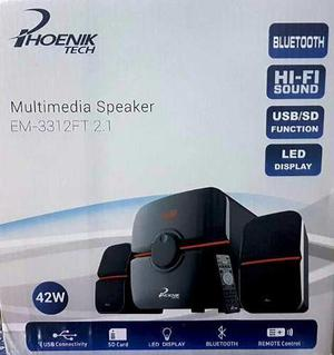 Equipo De Sonido Phoenix 2.1 Bluetooth Usb Fm Sd 62w