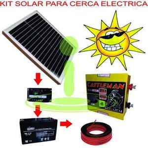 Impulsor Cerca Eléctrica Kit Solar 80 Km 700 Ha 2,5j