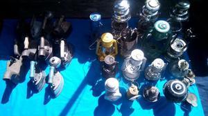 Se vende o se permuta lote de planchas a carbon y lamparas