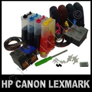 Sistema Tinta Continua Hp Canon Full Tintas Incluye Broca