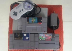 Super Nintendo Y 6 Juegos