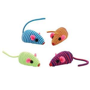 Kit De 4 Ratones De Felpa Zanies Ideal Para Gatos