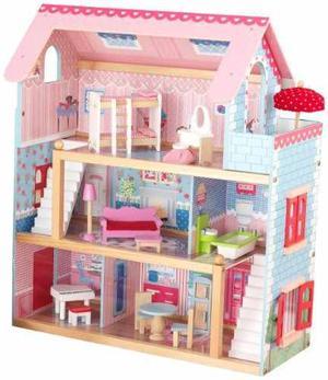Casa De Muñecas Kidkraft Chelsea Con Muebles