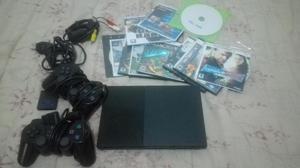 Play Station 2 Slim Como Nuevo! 2 Controles Originales