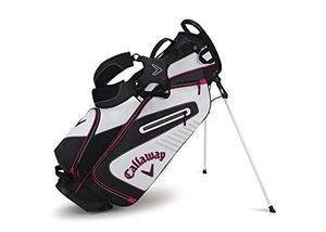 Bolso De Golf Callaway Con Base Blanco Negro Y Rosado
