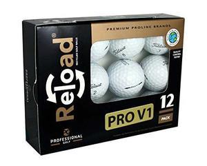 Reload Reciclado Bolas De Golf (12-pack) Titleist Prov1 B...