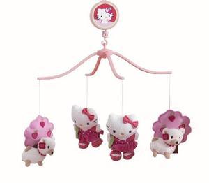 Bedtime Originals Hello Kitty Y Sus Cachorros Móvil Musical