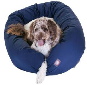 Majestic Dog Bagel Pet Bed With Sherpa Xl Blue
