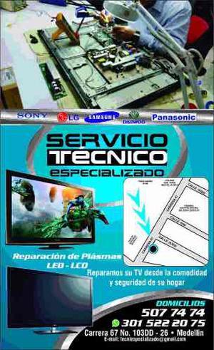 Reparacion De Televisores Lcd, Led Y Plasmas A Domicilio, To