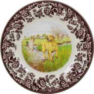 Spode Woodland Hunting Dogs Yellow Labrador Retriever Salad