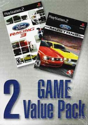 ¡2 Valor Juego Pack! Ps2 Ford Racing 3 Y Ps2 Ford Mustang