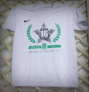 Camiseta M/c Blanca Campeón Liga I  (blanco, Verde, S)
