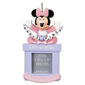 Disney Baby Girls First Minnie Mouse Foto Frame Ornament