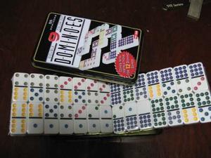 Dominos Colores Doble 9 Para 12 De 55 Fichas Caja Metalica