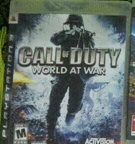 Juego Call Of Duty World At War para Play Station 3