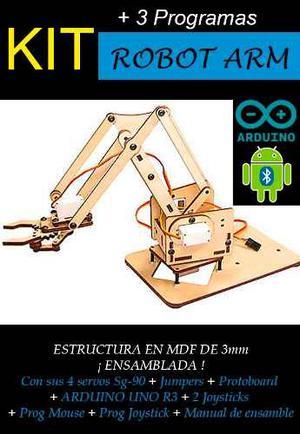 Kit Educativo Brazo Robotico Madera Completo