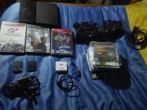 Play Station 2 + 2 Controles + 63 Juegos + 2 Memorias Oferta