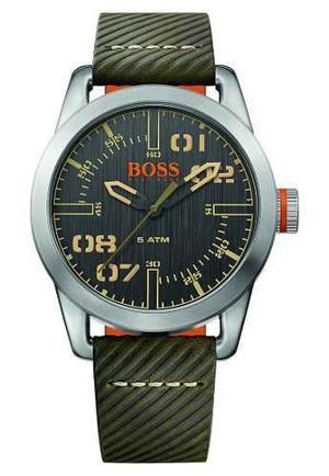 Reloj Hugo Boss  Cuero Verde Hombre