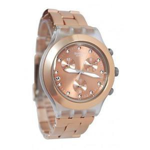Reloj Swatch Svckag Aluminio Oro Rosado Mujer