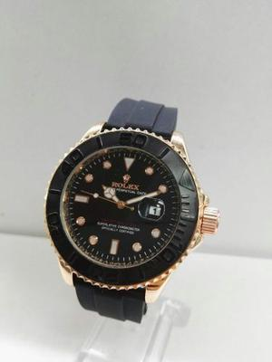 Rolex Oyster Perpetual Hombre Yacht-master Elegante Negro