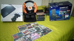 Vendo Playstation 2 Slim + Volante Huskee