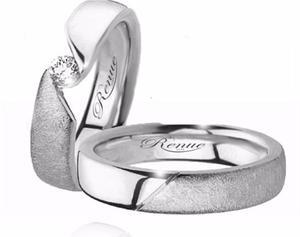Argollas De Matrimonio Compromiso Plata.925 O 950 C/u Joya