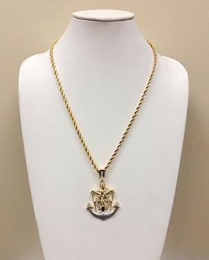 Cadena Exo Jewel 18k Colgante Crucifijo De Oro 24 Pulgadas