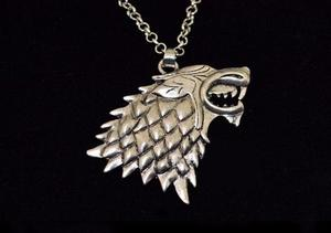 Collar Lobo Game Of Thrones Casa Stark Juego De Tronos