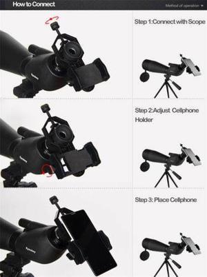 Iphone Universal Soporte De Montaje Para Eyeskey Binocular