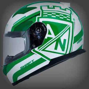 Casco Shaft Sh569 Branded (blanco, Verde)