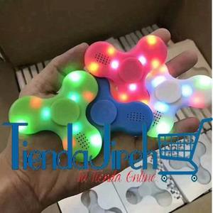 Fidget Spinner Parlante Bluetooth Lector Microsd Luz Led Mp3